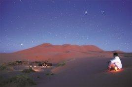 Noche estrellada en el desierto. Marruecos